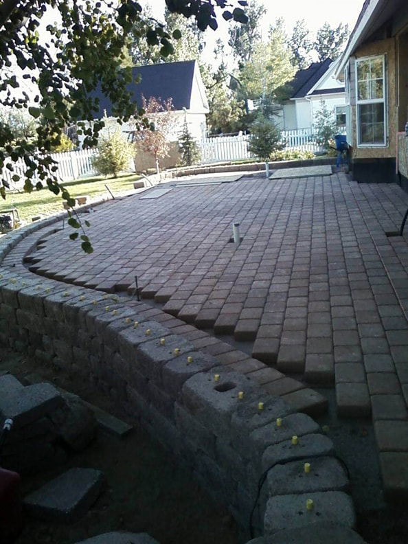 landscaped paver house in jerome